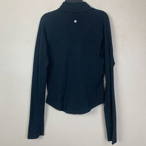 Lululemon Zip Up Jacket Sweater Black Size 8 Flaw